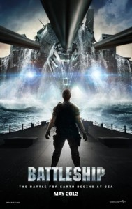 Poster for upcoming movie featuring US Navy responding to alien invasion