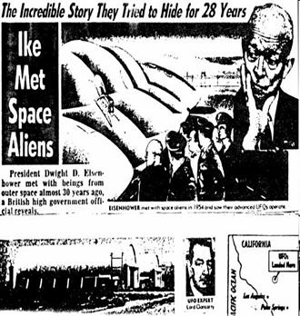 1982 British newspaper story on Eisenhower ET meeting