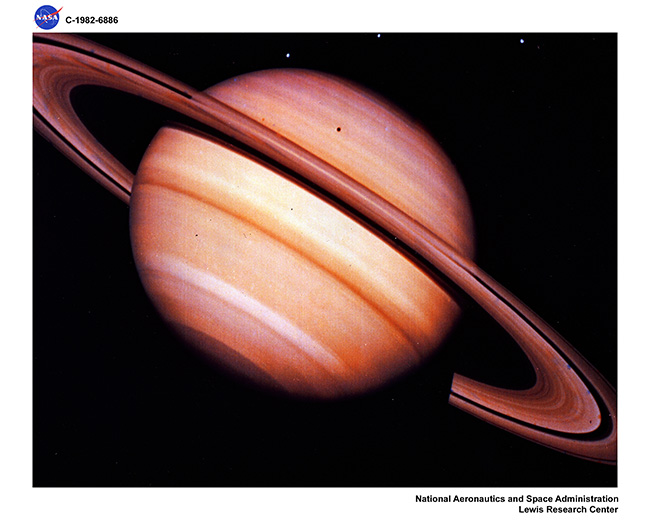 HQ TRANSPARENCIES OF VOYAGER I & II SATURN & JUPITER