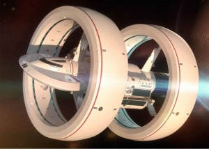 alcubierre drive spaceship with double torus