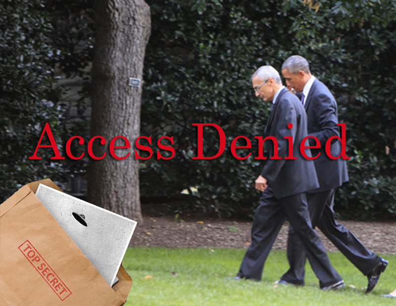 Obama Podesta in discussion - access denied