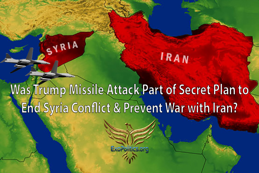 was trump missile attack part of secret plan to end syria conflict prevent war with iran exo news