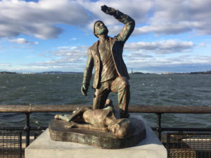 A UFO Tugboat Abduction Memorial Has Popped Up in The Battery