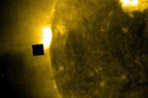 UFO Researcher Spots Cube-Sized Structure Entering Sun From NASA's SOHO Feed
