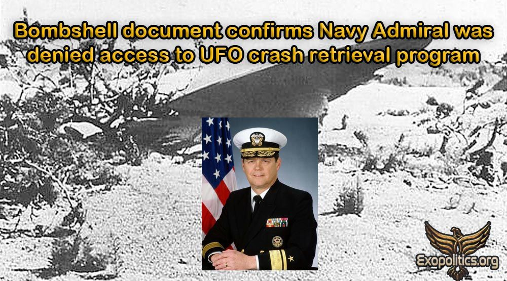 Bombshell document confirms Navy Admiral was denied access to UFO